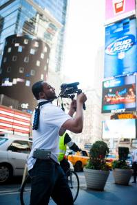Videographer Donald Wilson on our NYY Dream Experience Photo Cred: Themba Imagery