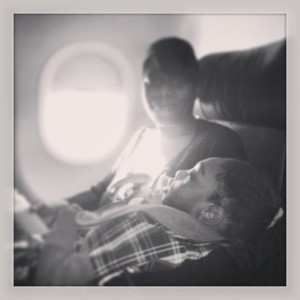 Dream Kid Zasheed and his mom on the way to NYC -Photo Cred: Themba Imagery