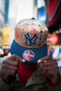 Dream Kid Zasheed shows off his new NYY hat