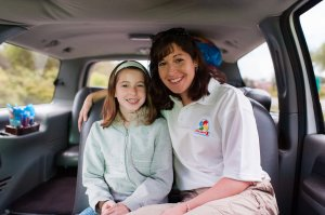 Elizabeth Lindsey and daughter, Victoria, on the way to Nicholas' Dream Experience.  Photo Cred: Themba Imagery