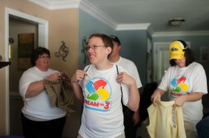 Dream Kid Nicholas and Family receive their DO3 shirts!