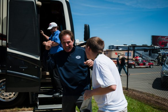 Dream Kid Nicholas has fun with his idol, Darrell Waltrip (Photo Cred: Themba Imagery)
