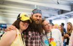 Nicholas and his sister pose with Duck Dynasty's Willie Robertson